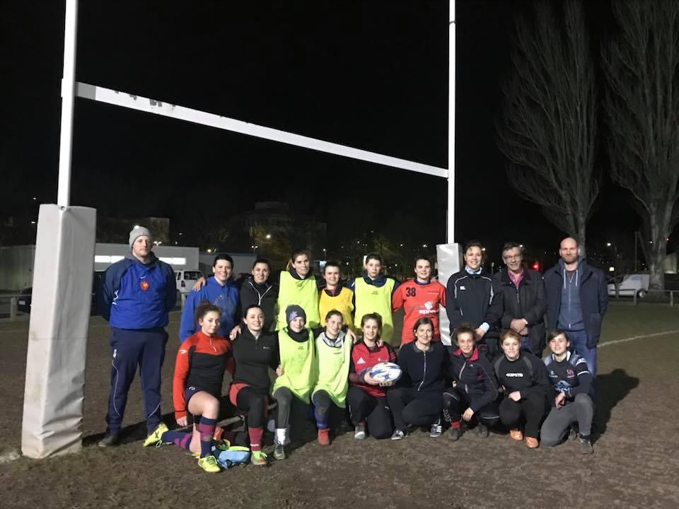 Journée des Droits des Femmes – Équipe féminine du Nancy Seichamps Rugby.