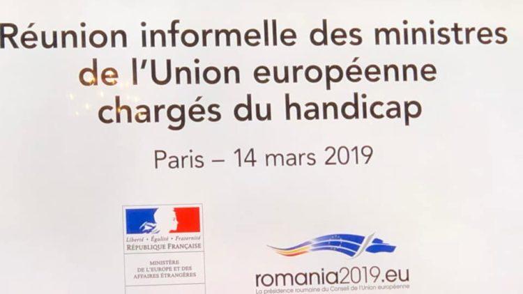 Réunion des Ministres autour de l'autisme en Europe – 14 mars 2019