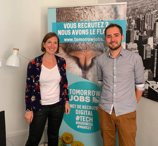 Visite de la start-up Tomorrow job – 29 juillet 2019