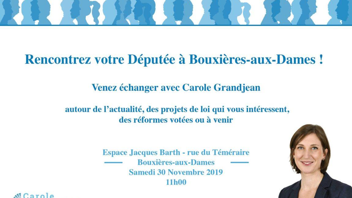 Rencontrez votre députée à Bouxières-aux-Dames – 30 novembre 2019