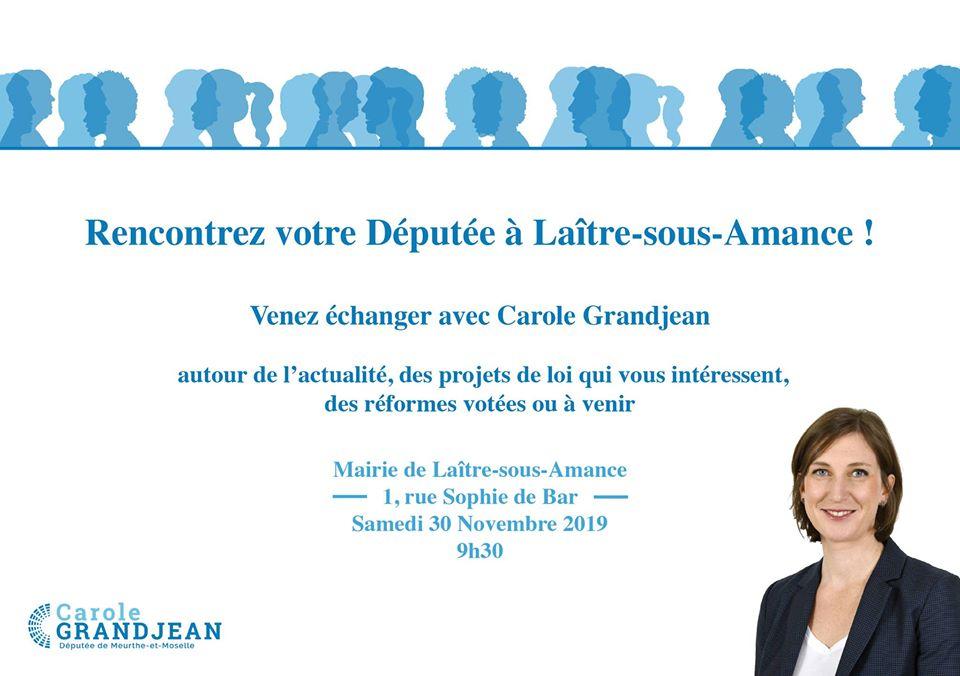 Rencontrez votre députée à Laître-sous-Amance –  30 novembre 2019