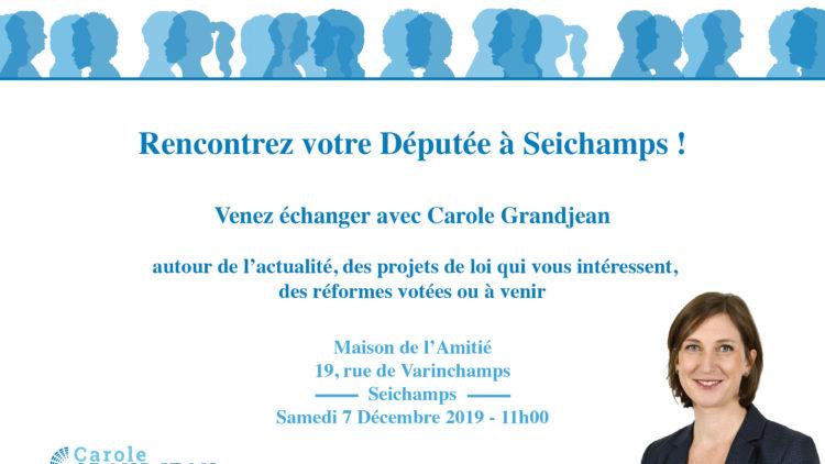 Rencontrez votre députée à Seichamps – 7 décembre 2019