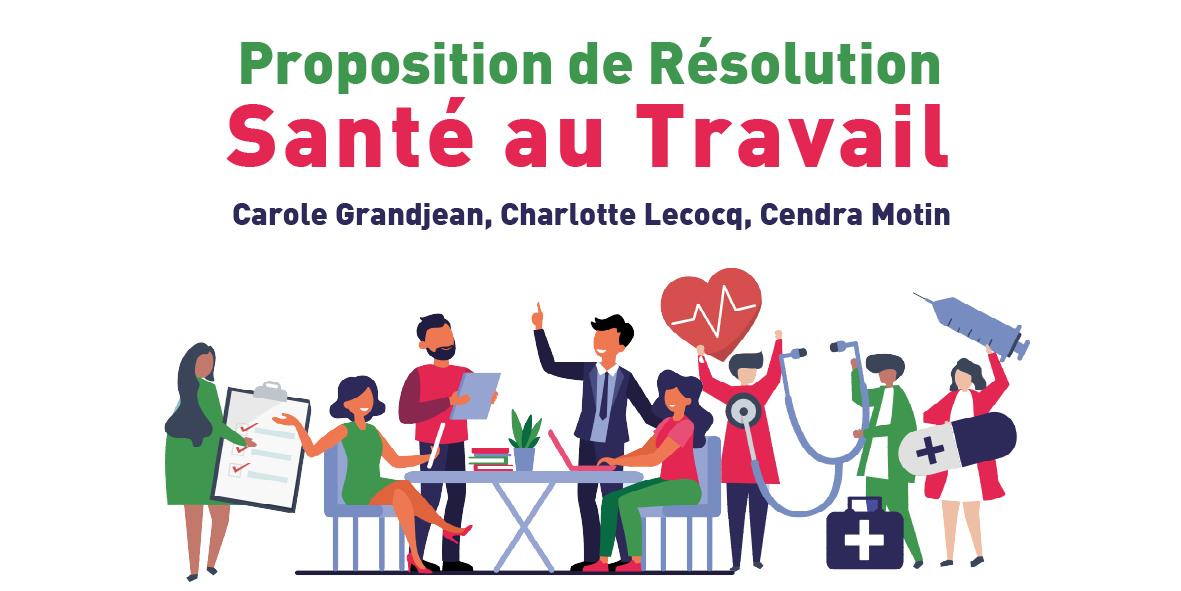 Santé au Travail : Proposition de Résolution – 15 juin 2020