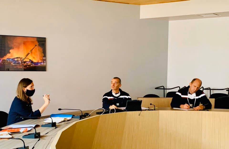 Échanges avec les sapeurs-pompiers – 12 octobre 2020