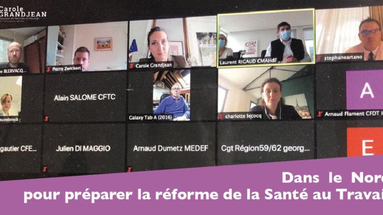 Dans le Nord pour préparer la réforme de la santé au travail – 13 novembre 2020