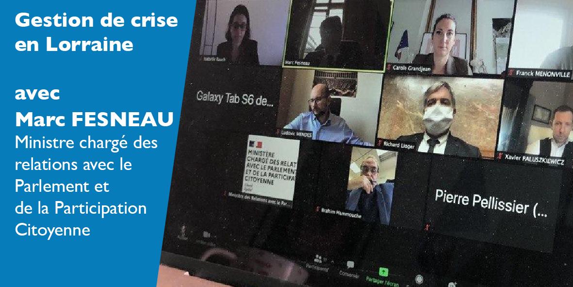 Gestion de crise avec le Ministre Marc FESNEAU – 13 novembre 2020