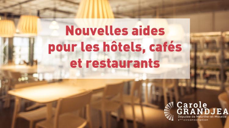 Soutien aux hôtels, cafés et restaurants
