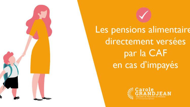 Réforme du versement des pensions alimentaires – 1er janvier 2021