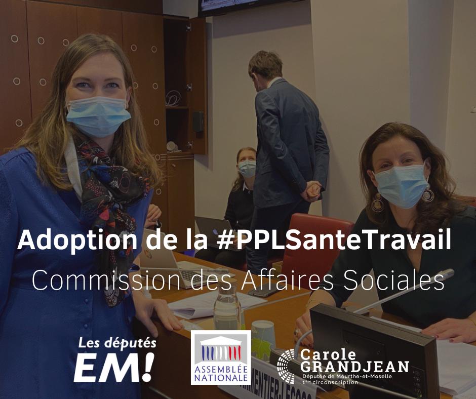 La PPL santé au travail adoptée en Commission des Affaires Sociales – 10 février 2021