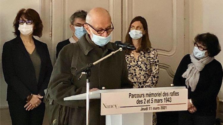 78 ème anniversaire des rafles de la Gestapo à Nancy  – 11 mars 2021