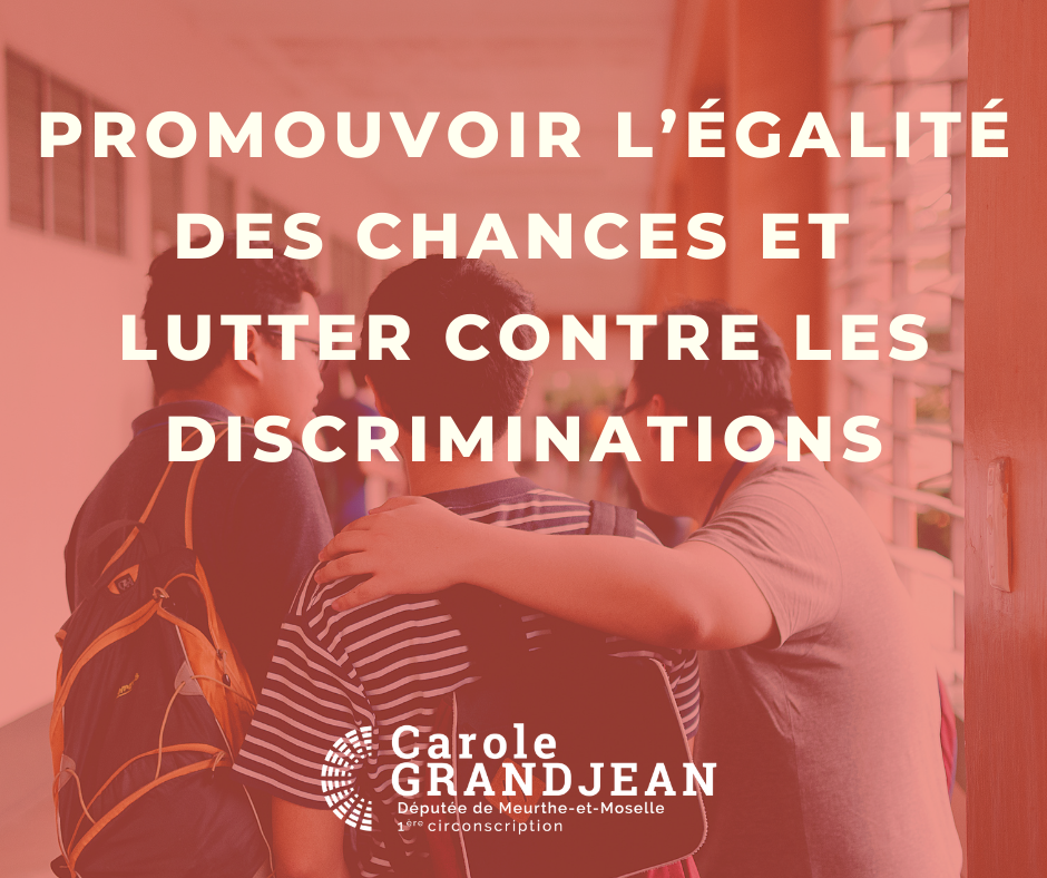 promouvoir l'égalité des chances et lutter contre les discriminations – 19 juillet 2021