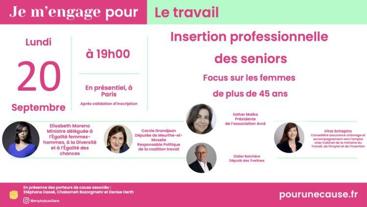 Relevons le défi de l'emploi des femmes seniors !   – 20 septembre 2021