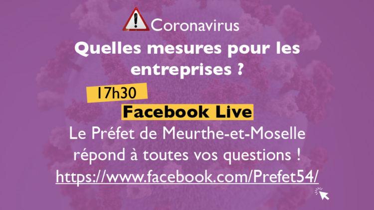 Coronavirus & entreprises : Facebook Live – 17.03.20