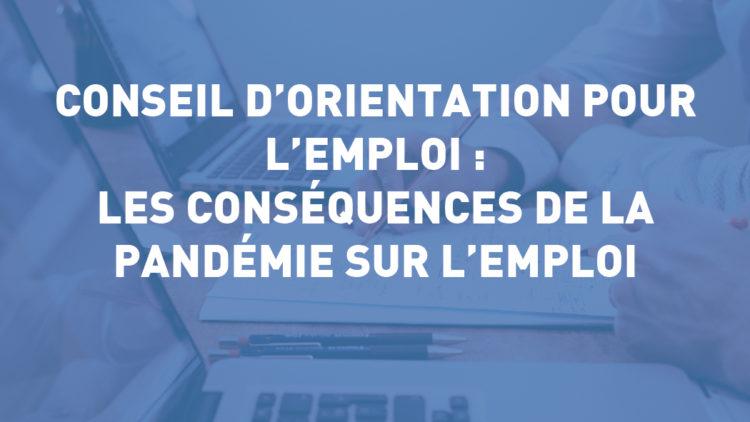 Conseil d'Orientation pour l'Emploi : les conséquences de la pandémie sur l'emploi – 15mai 2020