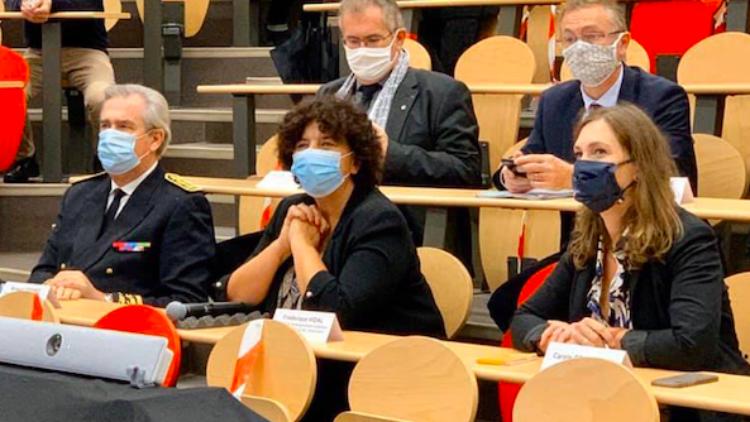 La Ministre de l'Enseignement Supérieur, de la  Recherche et de l'Innovation à Nancy – 2 octobre 2020