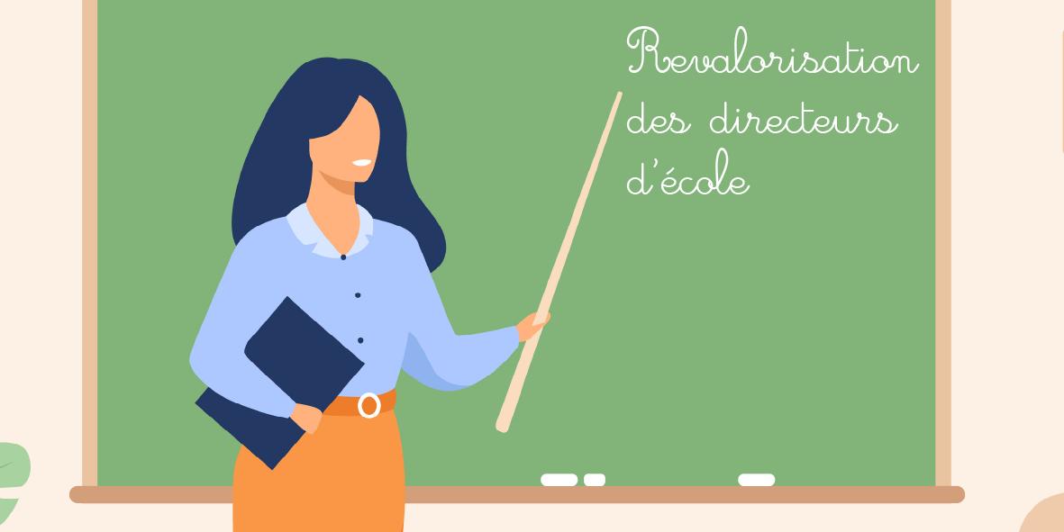 Une prime de 450 euros pour les directeurs d'école ! – 14 octobre 2020