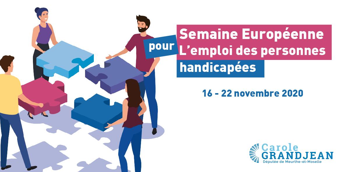 Semaine Européenne pour l'Emploi des Personnes Handicapées – 16 novembre 2020