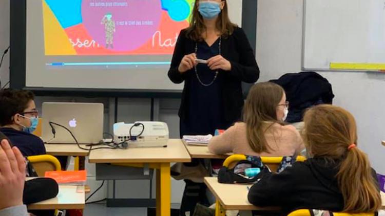 Avec les CM2 de l'école Jules Ferry à Saint-Max – 25 janvier 2021