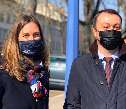 inauguration de l'Allée Gisèle Halimi à Nancy  – 8 mars 2021