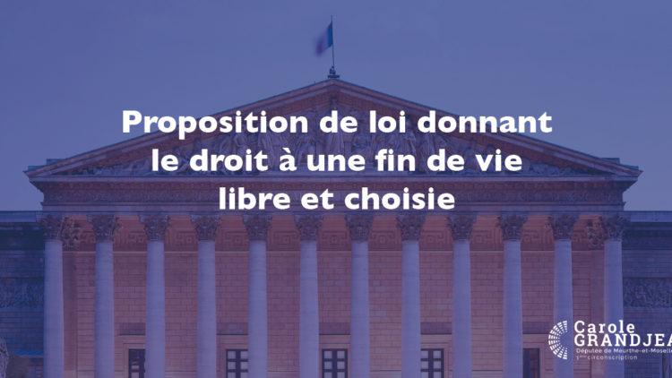 Examen de la proposition de loi sur la fin de vie – 8 avril 2021