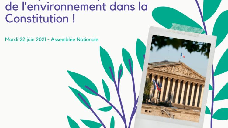 Les députés votent pour l'inscription de la protection de l'environnement dans la Constitution ! 22 juin 2021