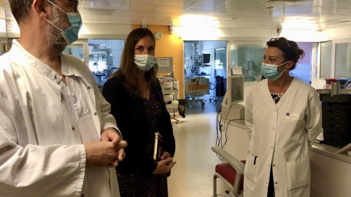 Auprès des soignants du CHRU de Nancy  – 14 juin 2021